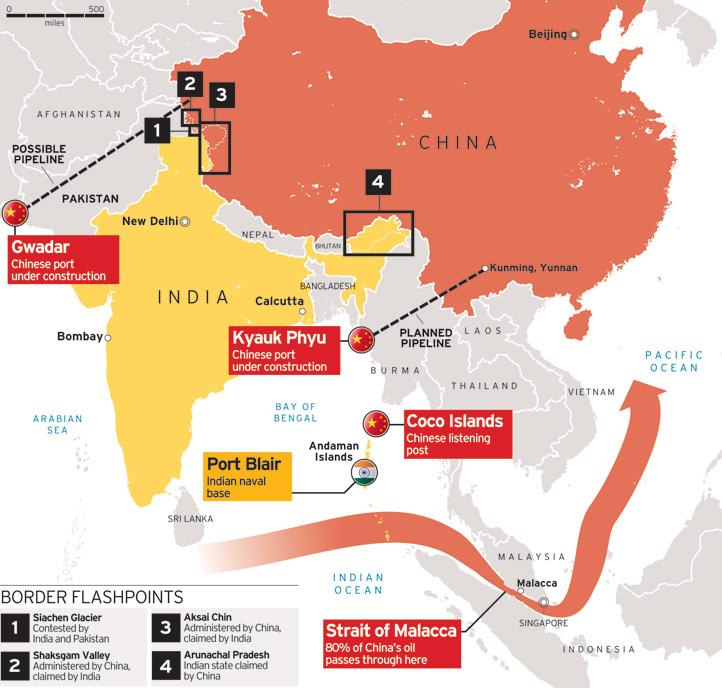 Cartina Russia Cina.La Mappa Del Potere Mondiale Cina India Crimea Iran Il Gioco