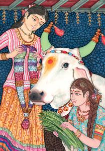 Dans l'hindouisme, la vache est le symbole de la santé et de l'abondance.