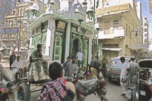 Dans le quartier Malayali de Karachi.