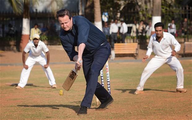Entre visite commerciale et passé colonial, le temps pour un run de cricket.
