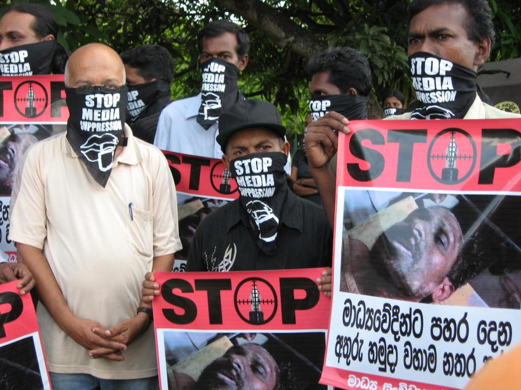 Manifestation contre la répression des médias en décembre dernier.