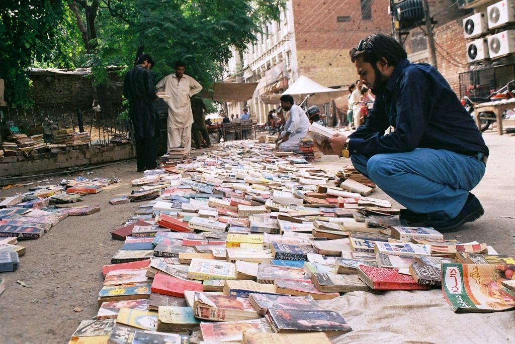 Vendeurs dans les rues de Lahore