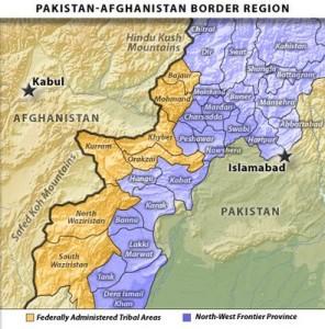 Les zones tribales à la frontière avec l'Afghanistan