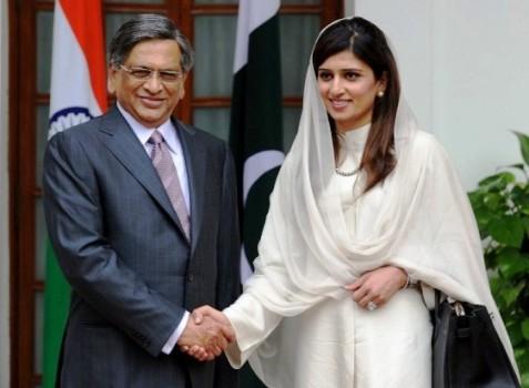 S.M. Krishna et Hina Rabbani Khar, artisans de la paix en 2011-2012.