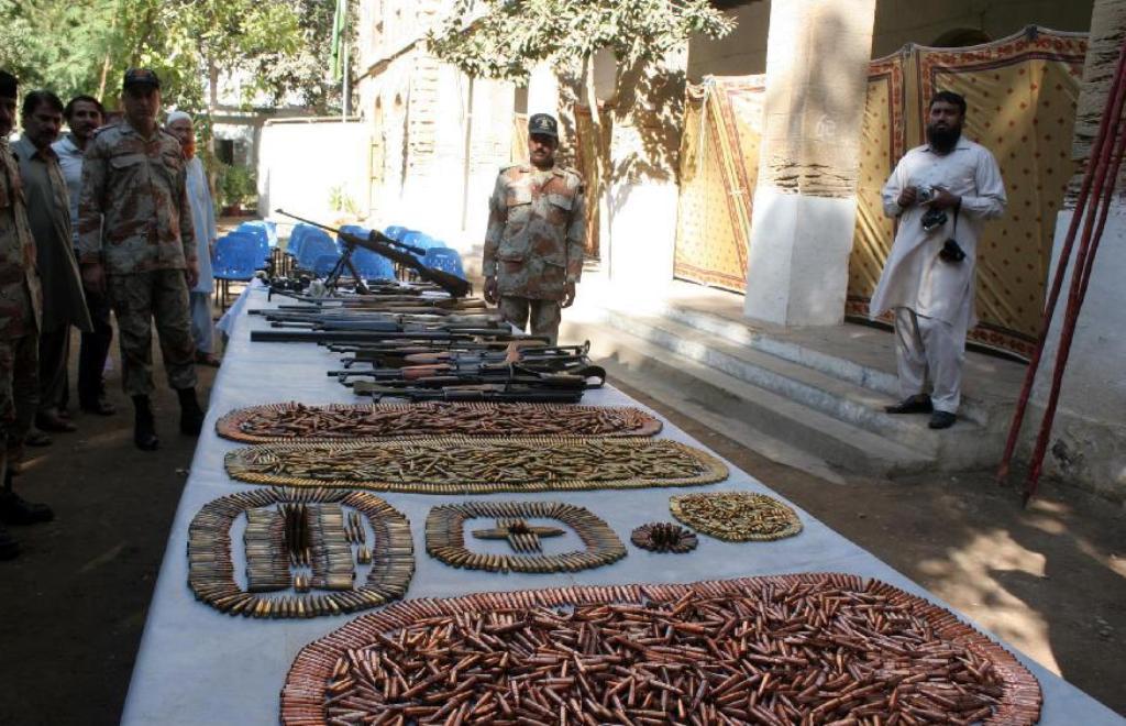 Saisie d'armes à Karachi