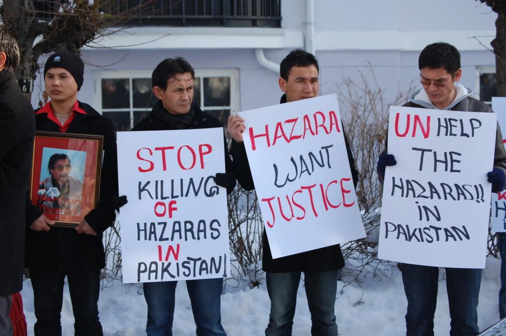 Mobilisation des Hazaras de Norvège contre les persécutions.