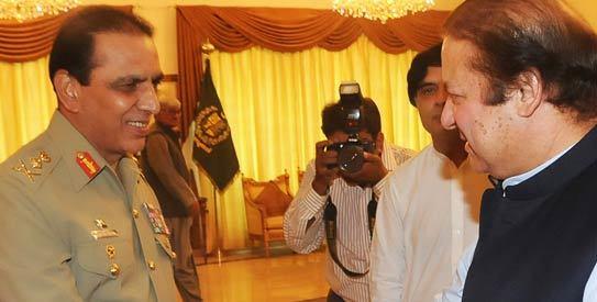 Le général Kayani et Nawaz Sharif en réunion en septembre 2011.