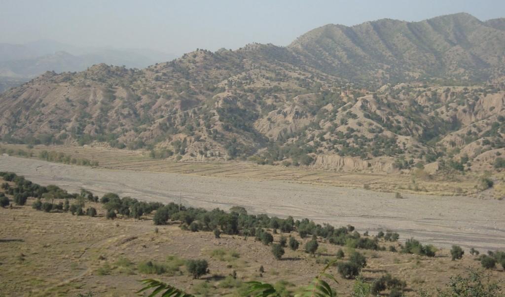 Les collines de Saraogha dans le Waziristan du sud, Pakistan.