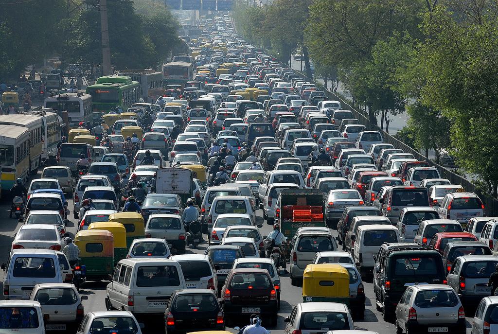 Jour ordinaire sur les routes de Bangalore.