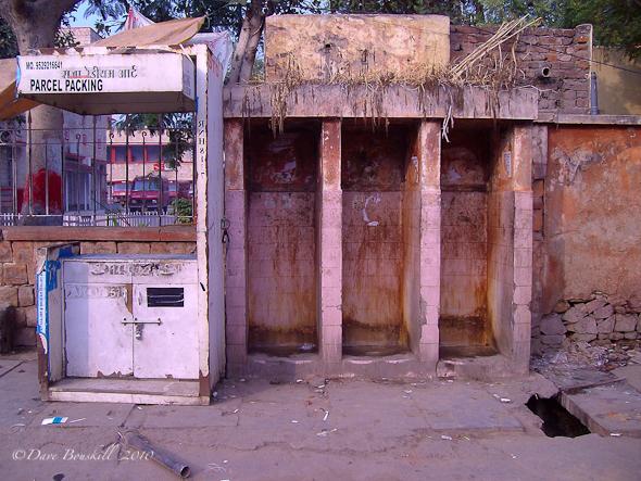 Toilettes publics en Inde