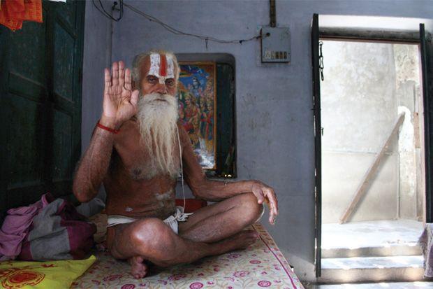 Le pionnier?  Mahant Tribhuvan Das passe pour être le premier à avoir introduit le crime dans les milieux de la sainteté hindoue à Ayodhya.