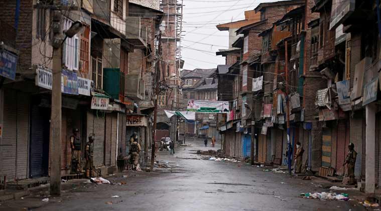 Dans les rues de Srinagar sous le couvre-feu, photo Reuters
